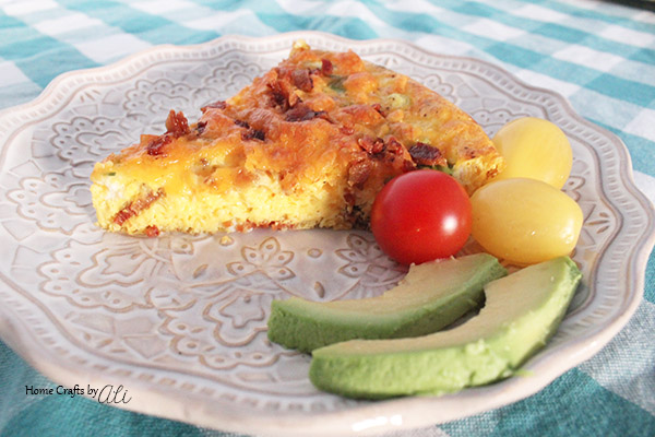 Bacon and Cheese Quiche Plated