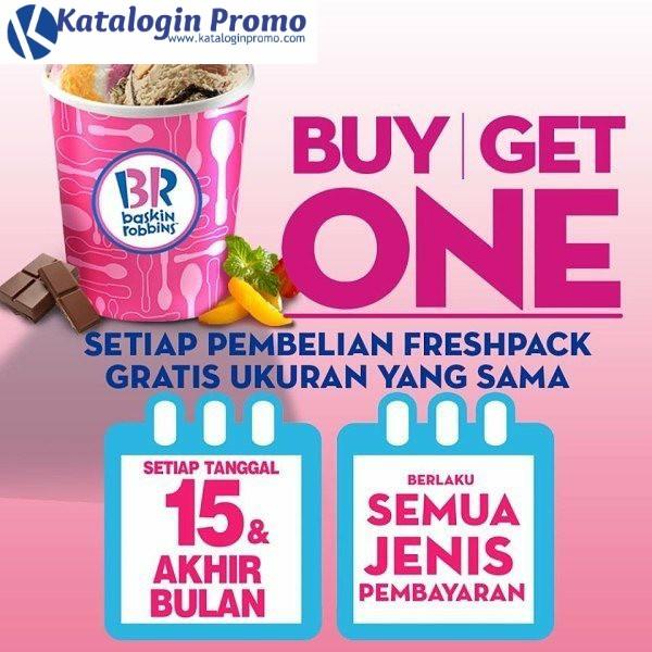Promo Baskin Robbins Terbaru Buy 1 Get 1 Freshpack Setiap Tanggal 15 Dan Akhir Bulan