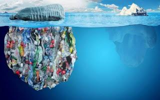 plastic on the ocean