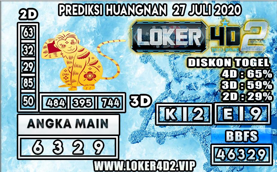 PREDIKSI TOGEL LOKER4D2 HUANGNAN 27 JULI 2020