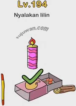 Level 194 Brain Out Nyalakan Lilin