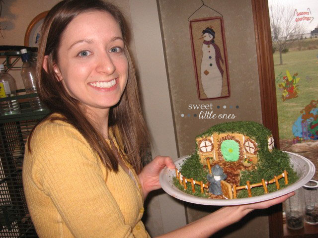 Favorite Family Christmas Traditions - Gingerbread House Making Party - Bag End The Lord of the Rings The Hobbit - www.sweetlittleonesblog.com
