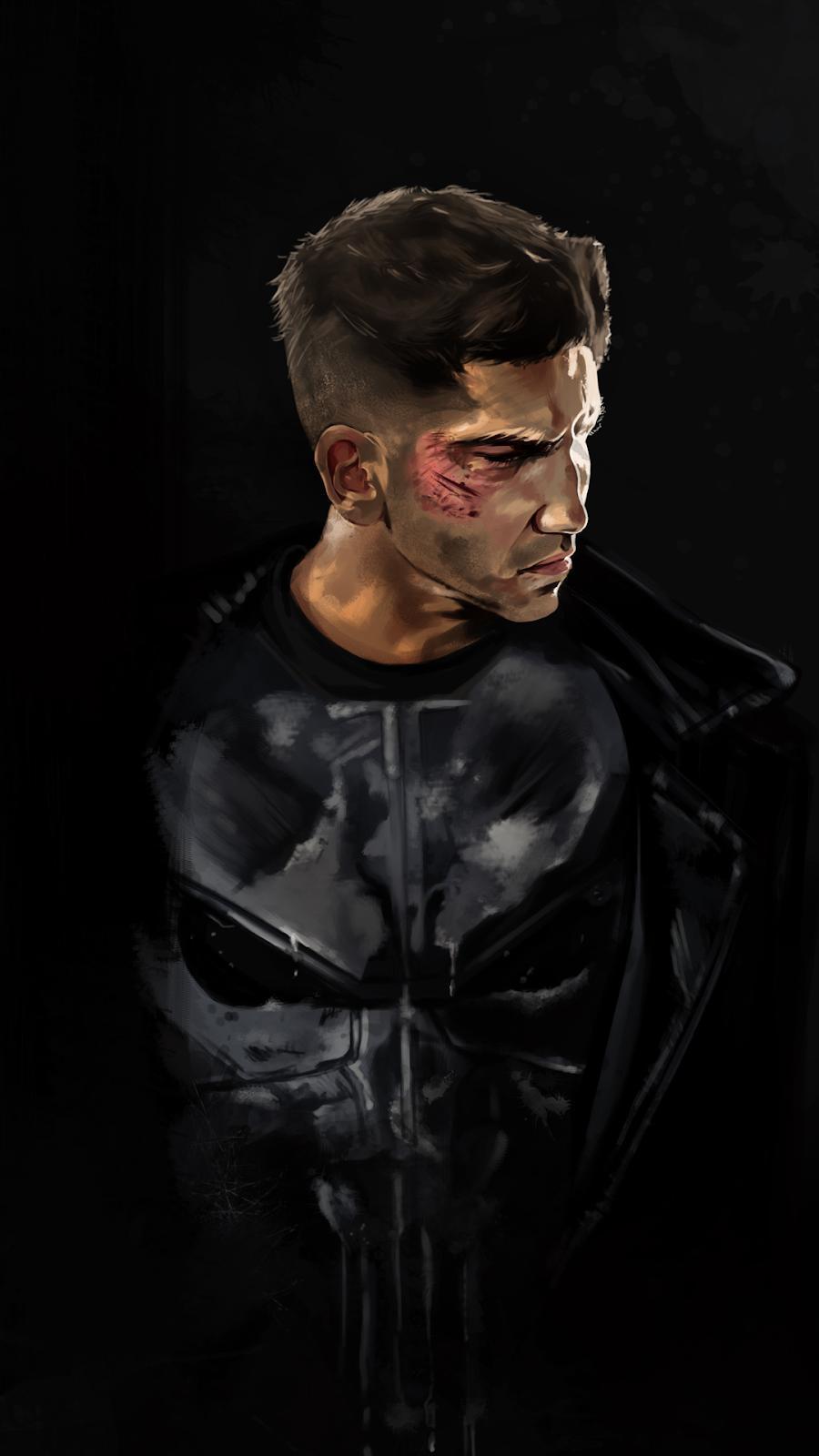 punisher black background