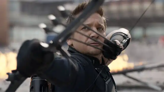 Watch Jeremy Renner practice the Hawkeye skill with a toy bow