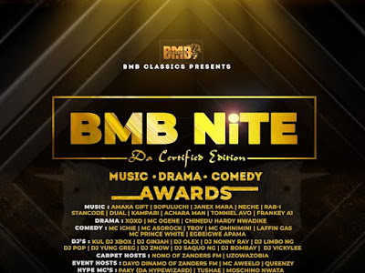BMB Nite kicks off with awards for artistes, bloggers, Djs, Comedians
