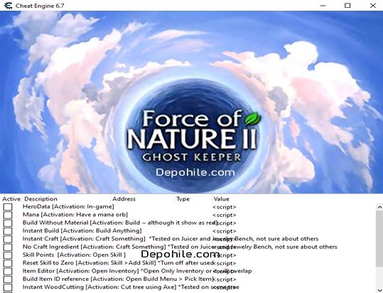 Force of Nature 2 Ghost Keeper Oyunu CE Trainer Hilesi İndir