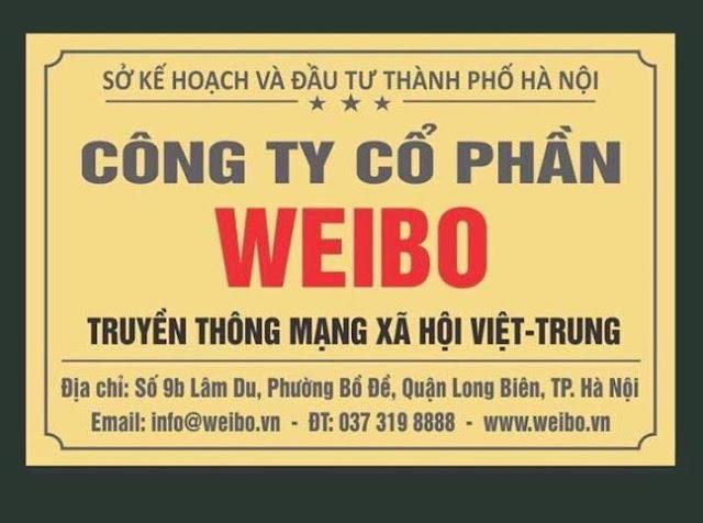 Mạng xã hội Weibo của Trung Quốc được chính quyền cấp giấy phép hoạt động ở Việt Nam?