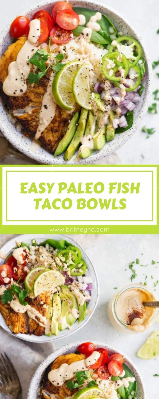 EASY PALEO FISH TACO BOWLS