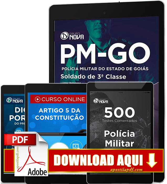 Apostila PM GO 2016 PDF Download Soldado da Polícia Militar de Goiás