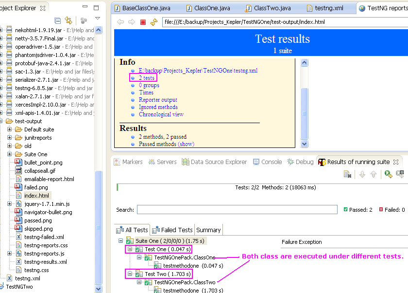 testng xml : Creating Single Or Multiple Tests For Multiple Classes