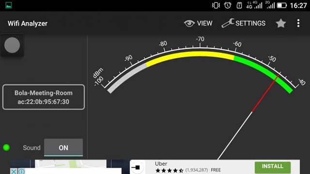 Periksa kecepatan dan kekuatan sinyal wifi - Cara Mempercepat Koneksi Wifi