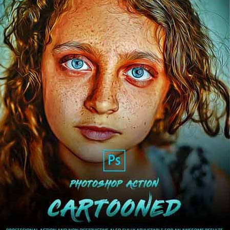 Cartooned Photoshop Action