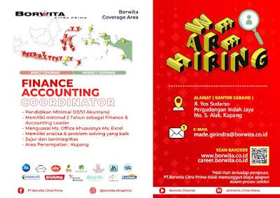 Lowongan Kerja Borwita Citra Prima Sebagai Finance Accounting Coordinator