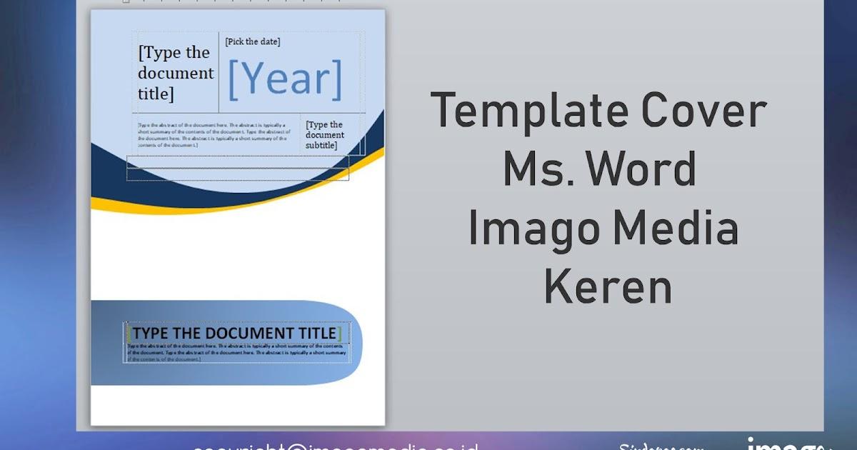 7 Template Cover Page Ms Word Keren Yang Harus Anda Miliki Imago Media Home Of Creativity