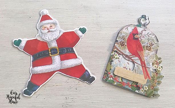 jolly Santa red cardinal Christmas cards