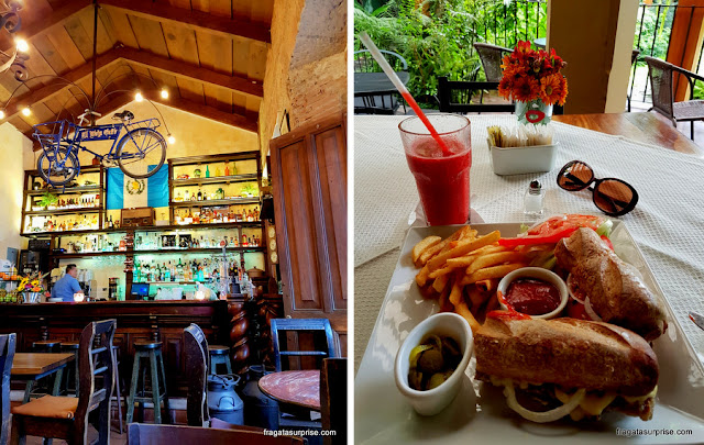 café no Centro Histórico de Antigua e sanduíche do empório Epicure