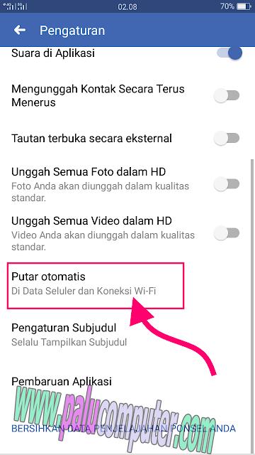 pengaturan video fb terputar otomatis