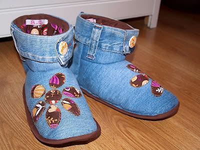Tutorial: Zapatillas vaqueras para andar por casa, ¡patrón gratuito!
