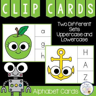 Alphabet Clip Cards Literacy Center