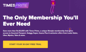 TimesPrime 1 Month FREE Membership Offer
