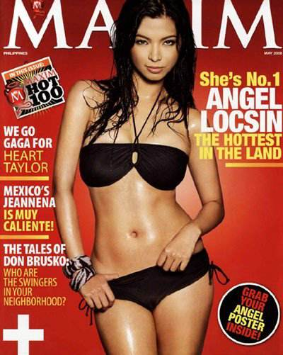 Painting Of Angel Locsin's 2008 Issue Of Maxim Magazine Gets Featured In An Art Exhibit In Bohol
