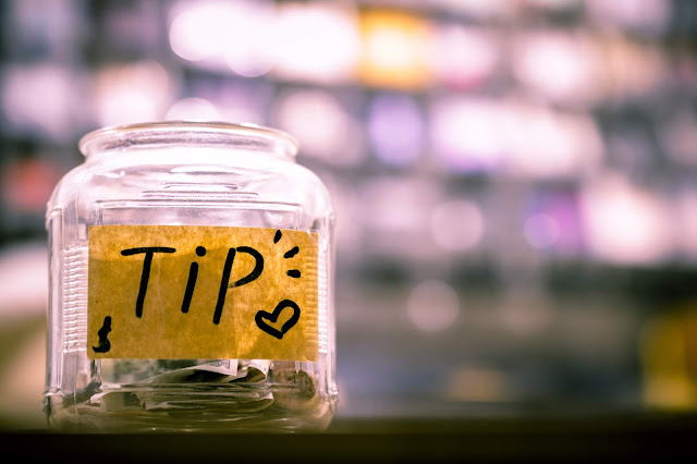 money in tip jar