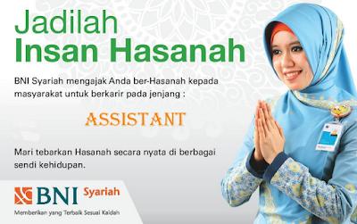 Karir Lampung Terbaru di PT. Bank Negara Indonesia Syariah KCP Tanjung Karang Terbaru Agustus 2016