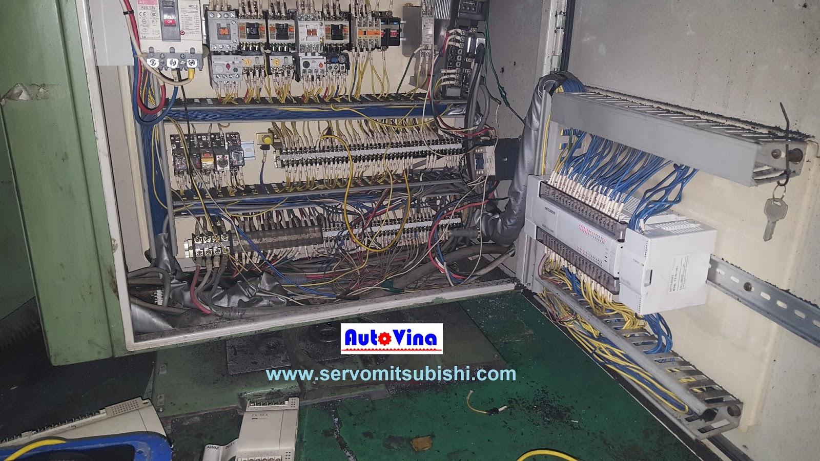 Sửa chữa tủ điện máy mài tự động PLC Mitsubishi FX2N-64MR