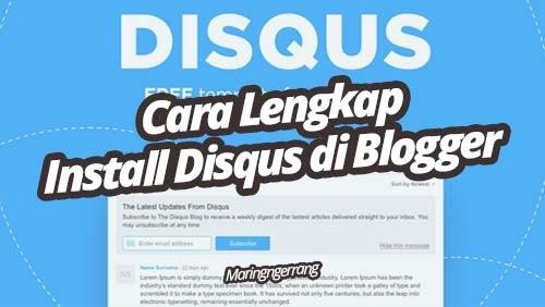 Cara Memasang Komentar Disqus di Blogger