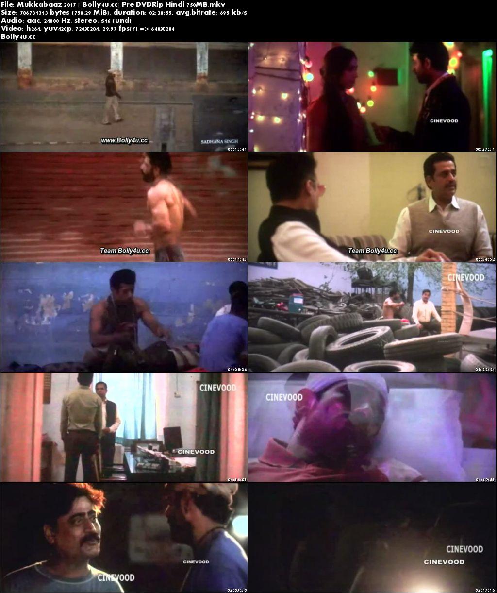 Mukkabaaz 2017 Pre DVDRip Full Hindi Movie Download x264