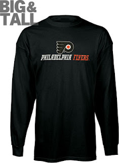 Big and Tall Philadelphia Flyers Long Sleeve Shirt