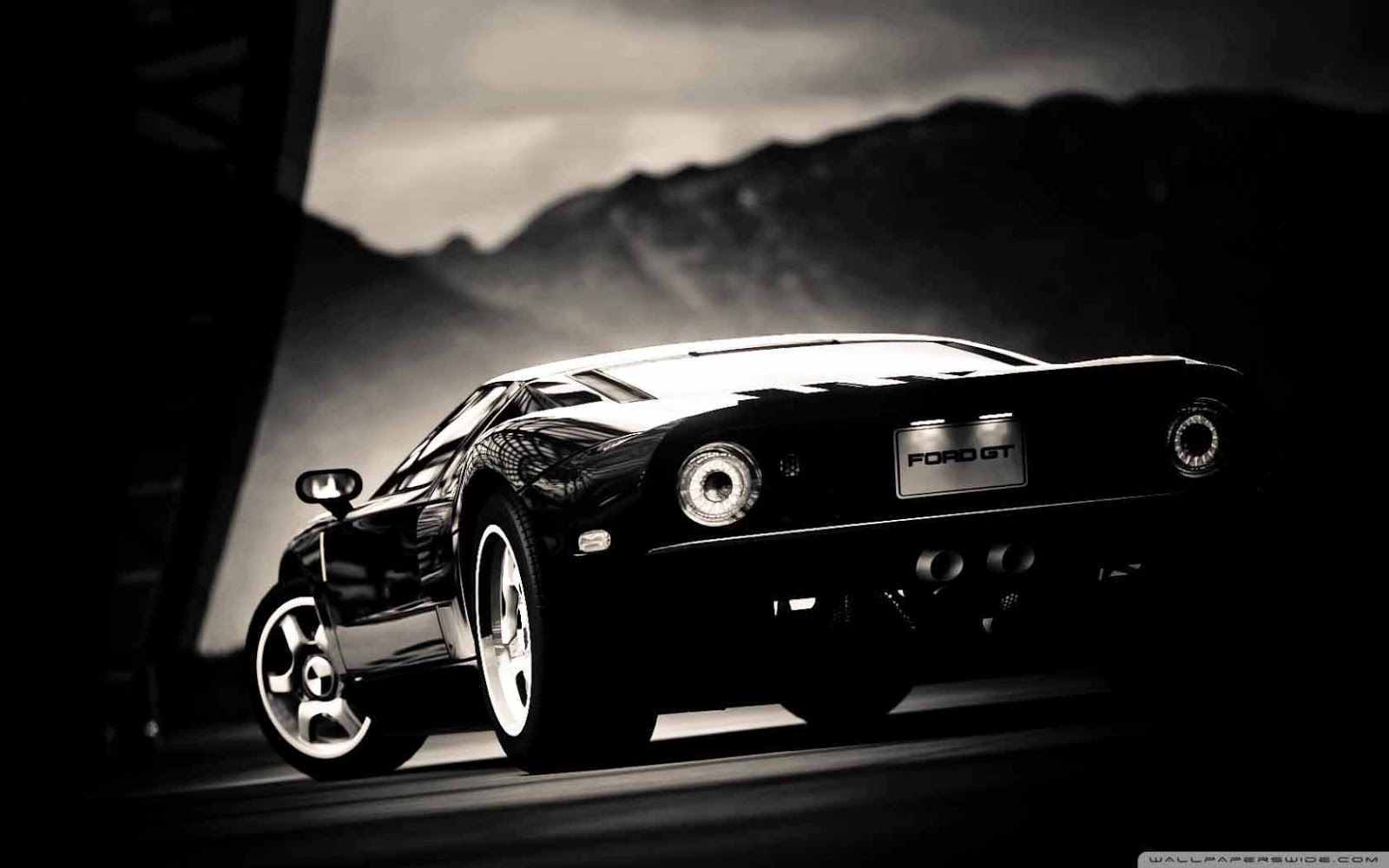 ford gt black wallpaper