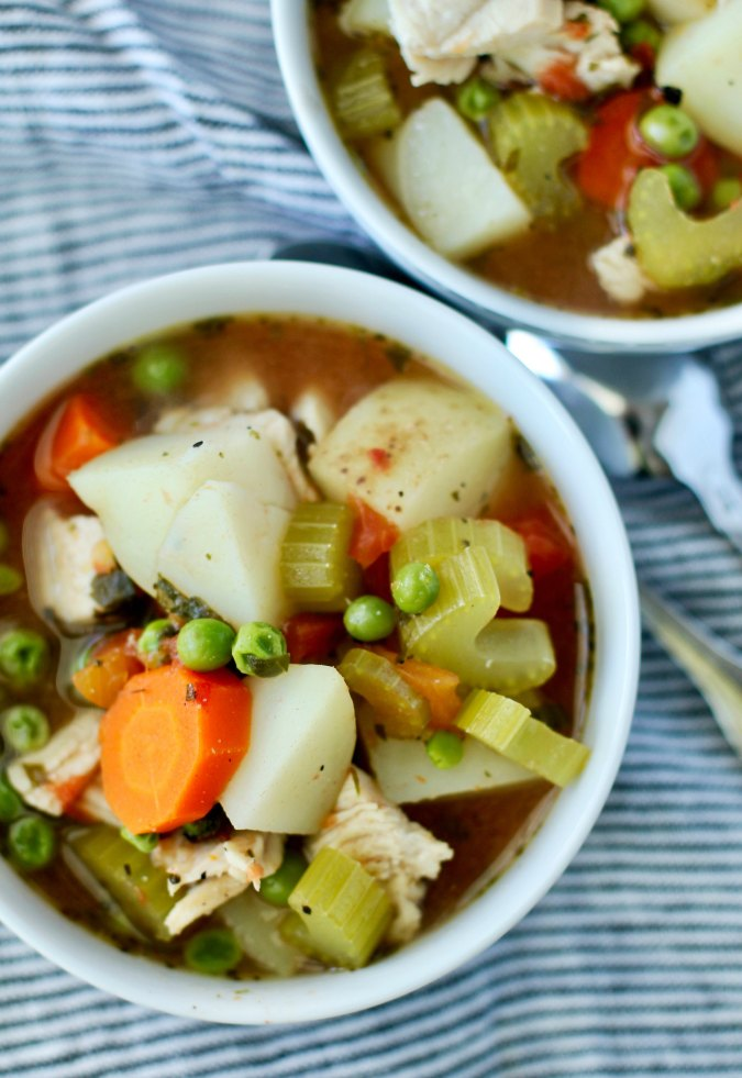 Homemade Turkey Soup with carrots