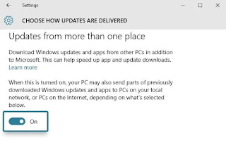 Disable Bandwidth Sharing for Updates
