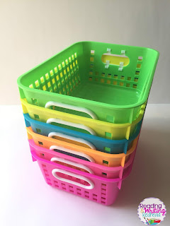 Flexible Seating Storage neon baskets , Flexible Seating Storage and organization