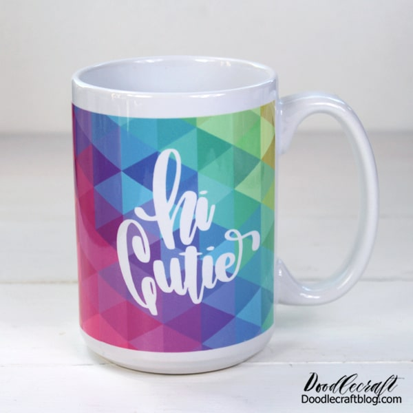 Isn't this beautiful!? The Cricut Infusible Ink becomes bright and vivid! This mug is the envy of the cupboard.