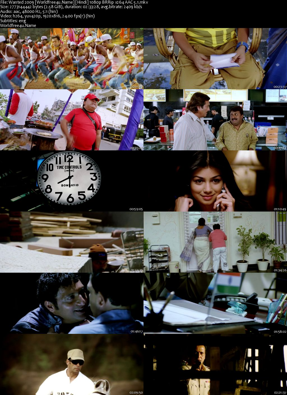Wanted 2009 Hindi BRRip 1080p