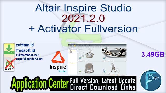 Altair Inspire Studio 2021.2.0 + Activator Fullversion