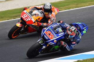 Klasemen MotoGP 2017. Marquez Memimpin. Vinales Kedua. Rossi Kempat.