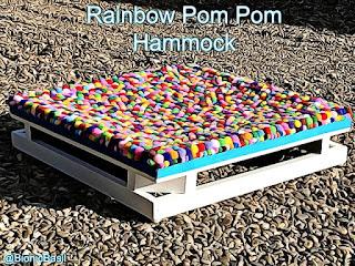 Crafting With Cats @BionicBasil® Rainbow Pom Pom Hammock