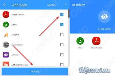 menyembunyikan aplikasi hide app
