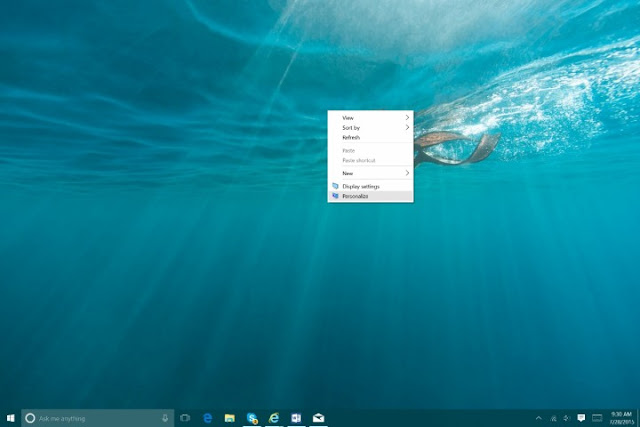 Come personalizzare Windows 10 con colori, temi, sfondo e start