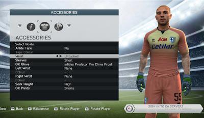 FIFA 14 Faces Luigi Sepe by Lagwagon93