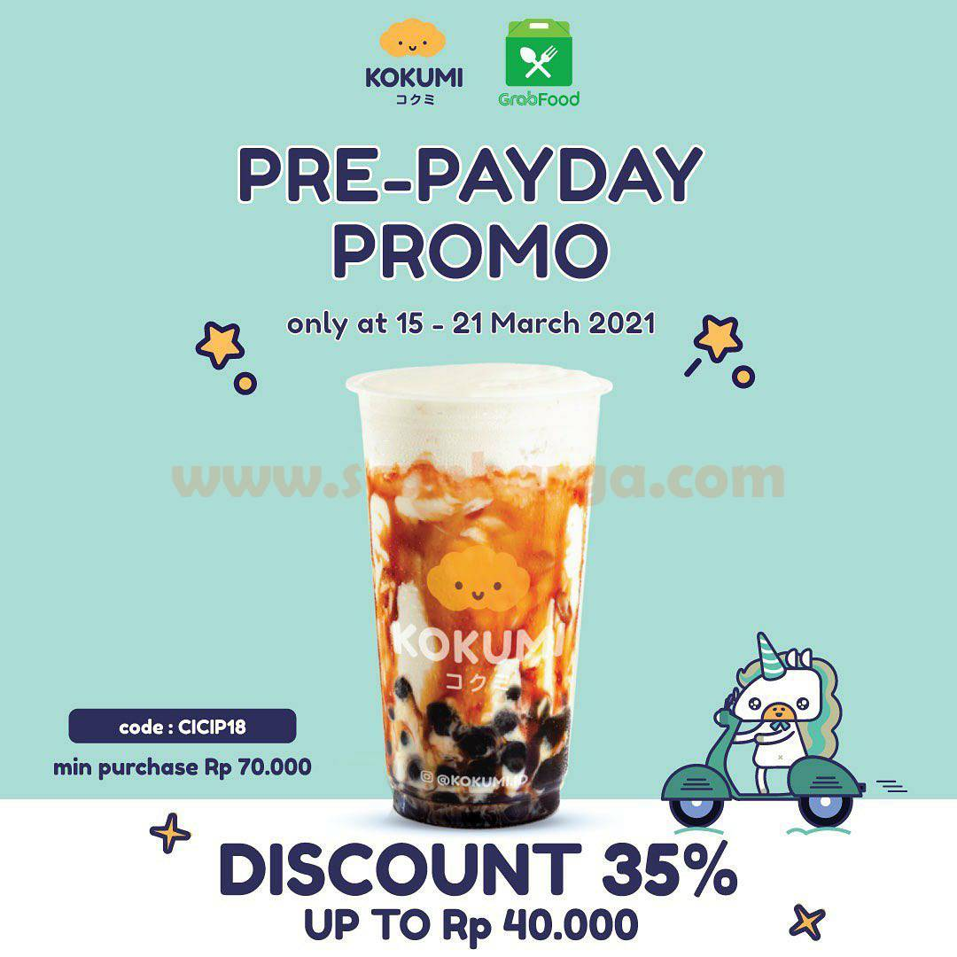 KOKUMI Pre-Payday Promo GrabFood Diskon Rp 35.000 up to 40Ribu