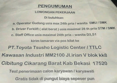 PT Toyota Tsusho Logistic Center TTLC
