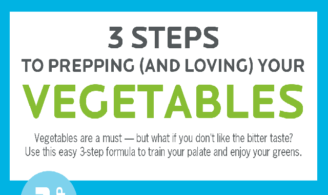 3 steps for prepping (and loving) your Vegetables #infographic