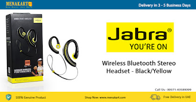 Jabra Sport Plus Wireless Bluetooth Stereo Headset - Black/Yellow