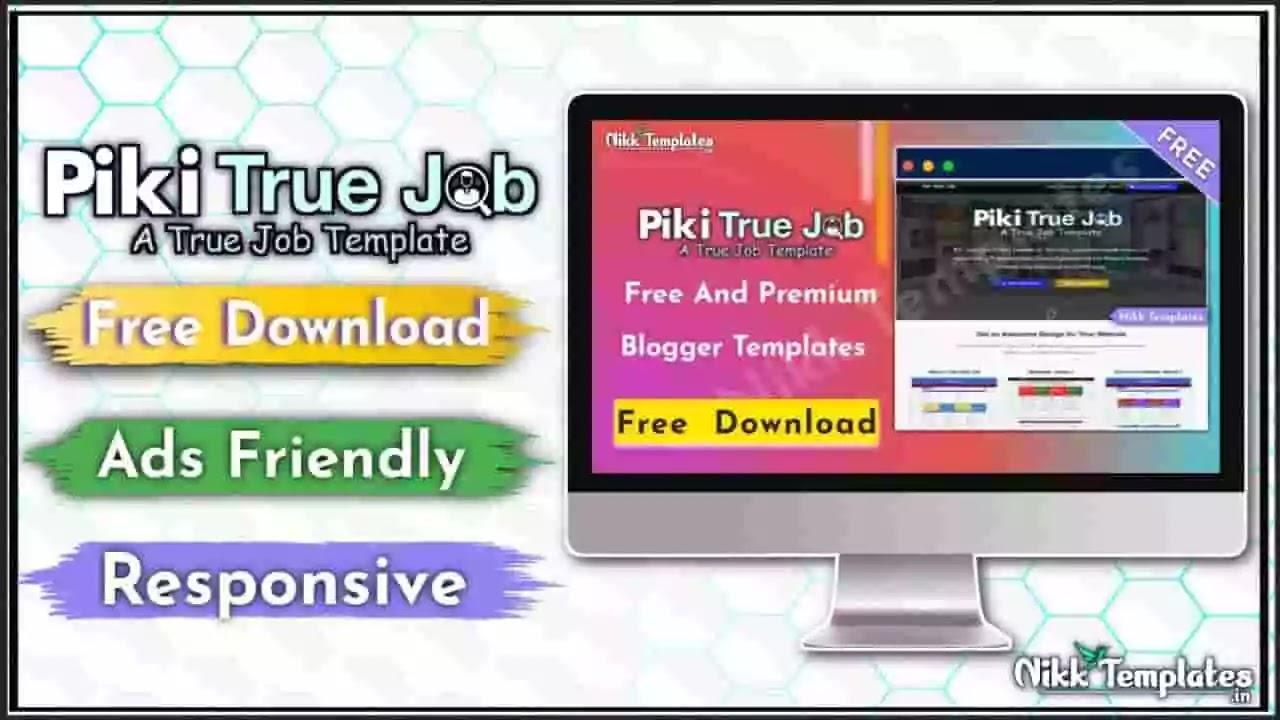 Piki True Job - Education Blogger Template - Nikk Templates