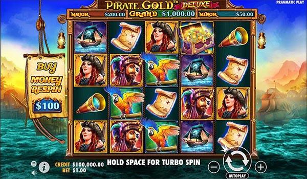 Main Gratis Slot Indonesia - Pirate Gold Deluxe (Pragmatic Play)