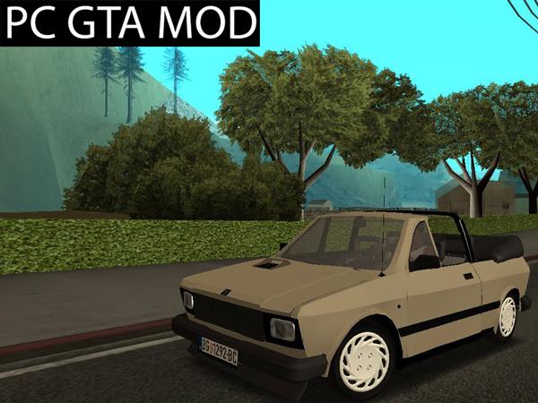 Free Download Yugo Koral 45 Kabrio  Mod for GTA San Andreas.